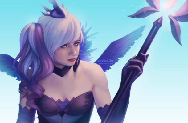 sneaky dark lux cosplay painting